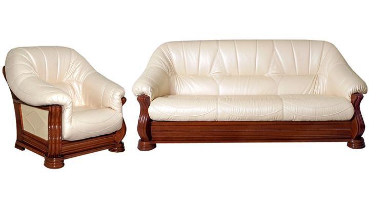 Кожаный диван Монарх - 5