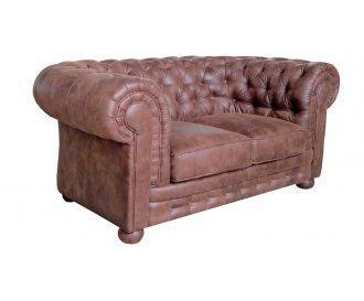 Кожаный двухместный диван Честер