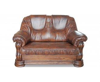 Кожаный двухместный диван Гризли