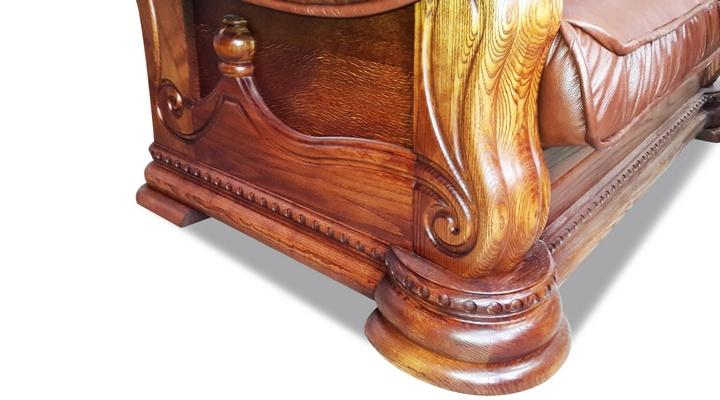 Кожаный угловой диван Гризли 298 - 14