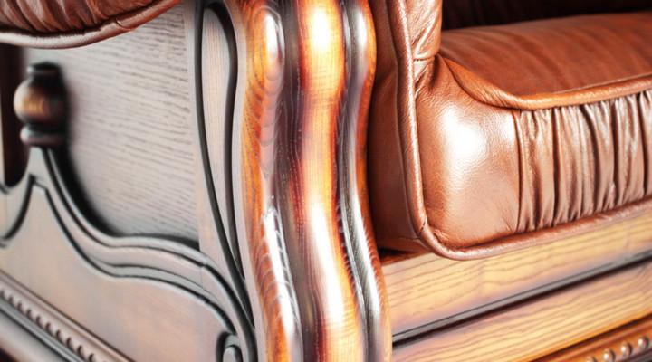 Кожаный угловой диван Гризли 298 - 12
