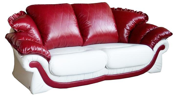 Кожаный двухместный диван Лоретта