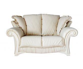 Кожаный двухместный диван Фаэро