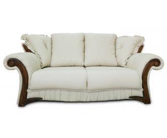 Кожаный двухместный диван Майфаер
