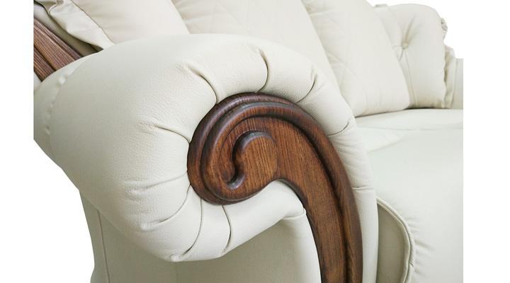 Кожаный двухместный диван Майфаер - 4
