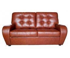 Кожаный двухместный диван Винцент