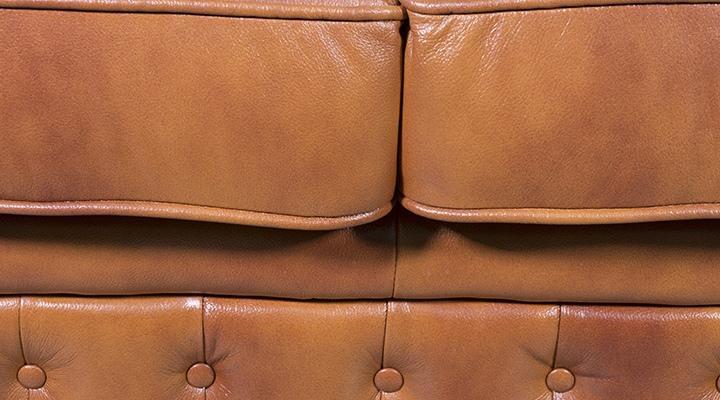 Кожаный двухместный диван Честер Классик - 9