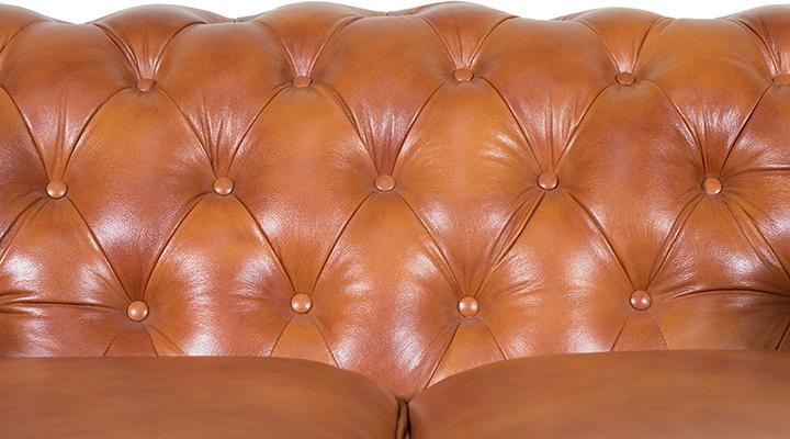 Кожаный двухместный диван Честер Классик - 7