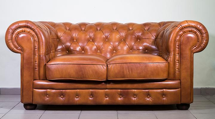 Кожаный двухместный диван Честер Классик - 2
