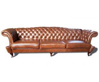 Кожаный четырехместный диван Честер Глост