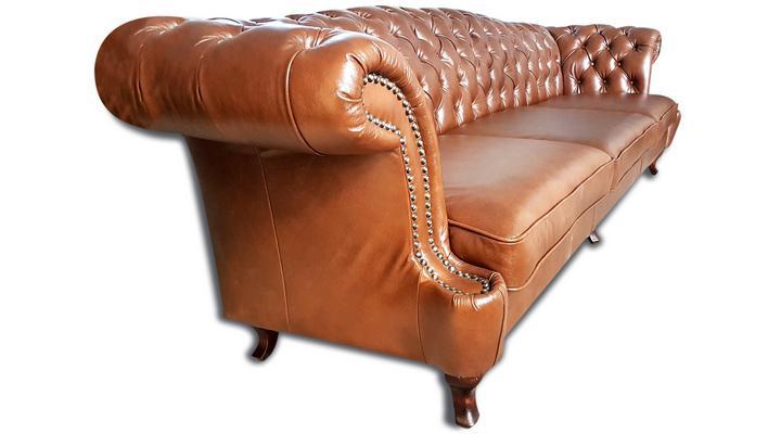 Кожаный четырехместный диван Честер Глост - 4