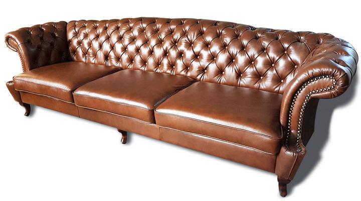 Кожаный четырехместный диван Честер Глост - 2