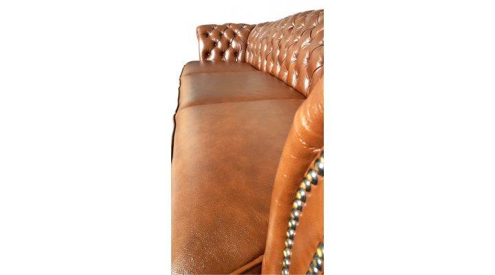 Кожаный четырехместный диван Честер Глост - 5