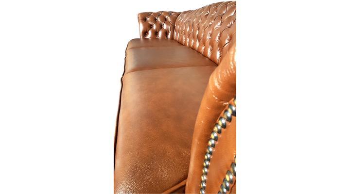 Кожаный четырехместный диван Честер Глост - 6