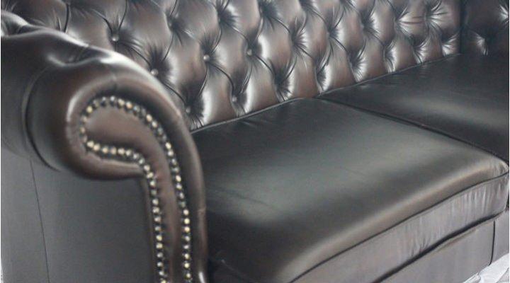 Кожаный двухместный диван Честер Глост - 4