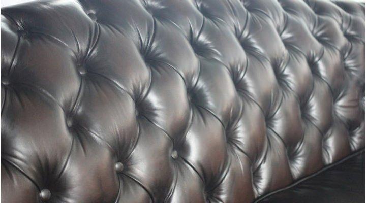 Кожаный двухместный диван Честер Глост - 5