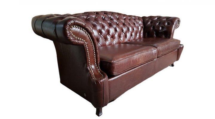 Кожаный двухместный диван Честер Глост - 2
