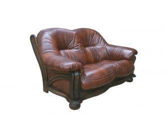 Кожаный двухместный диван Хаммер