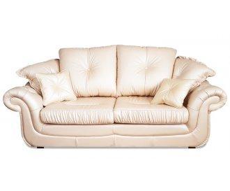 Кожаный двухместный диван Брокард