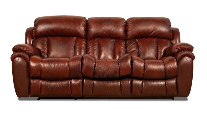 Кожаный диван реклайнер Бостон