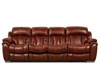 Кожаный четырехместный диван Бостон