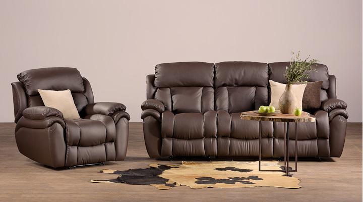 Кожаный диван реклайнер Бостон - 2