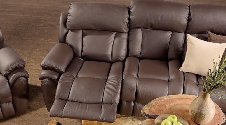 Кожаный диван реклайнер Бостон - 3