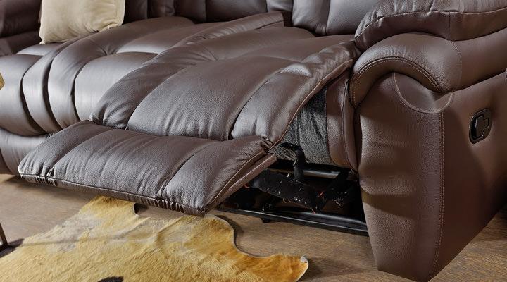 Кожаный диван реклайнер Бостон - 5