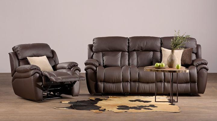 Кожаный диван реклайнер Бостон - 7