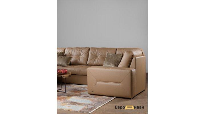 Кожаный угловой диван реклайнер Калифорния В1-286 - 5