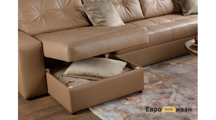 Кожаный угловой диван Калифорния В1-279 - 9