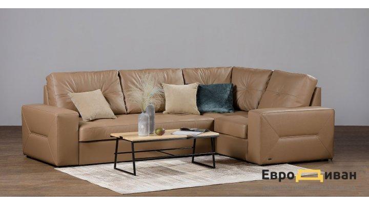 Кожаный угловой диван реклайнер Калифорния В1-286