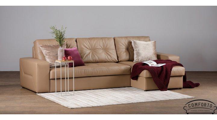 Кожаный угловой диван Калифорния В1-279