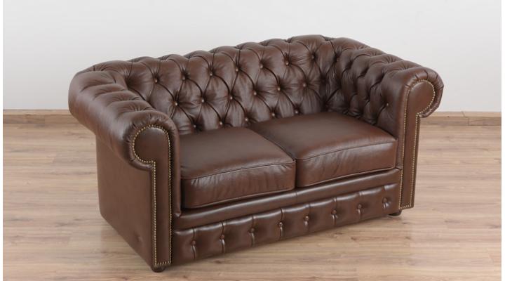 Кожаный двухместный диван Честер Чикаго - 5