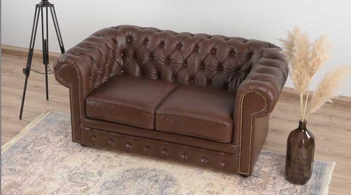 Кожаный двухместный диван Честер Чикаго - 3