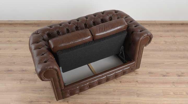 Кожаный двухместный диван Честер Чикаго - 8