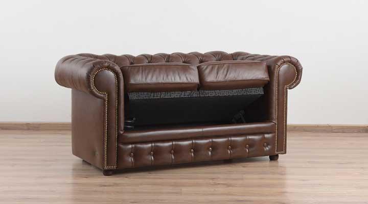 Кожаный двухместный диван Честер Чикаго - 7