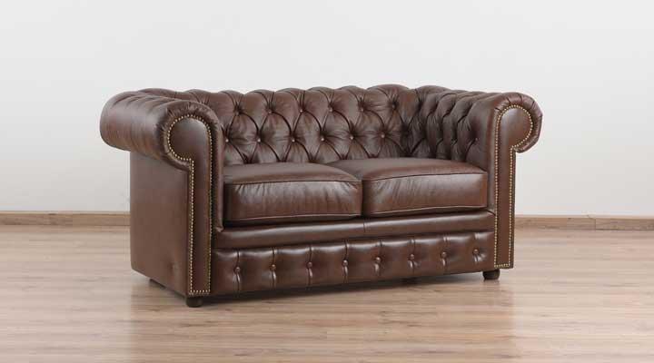 Кожаный двухместный диван Честер Чикаго - 6
