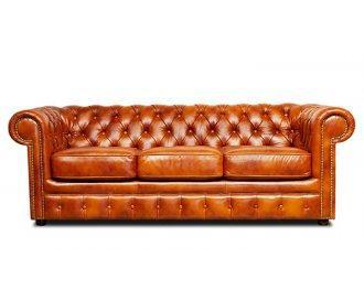 Кожаный диван Честер Чикаго