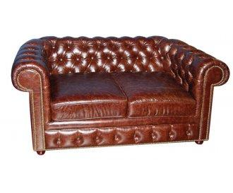 Кожаный двухместный диван Чикаго