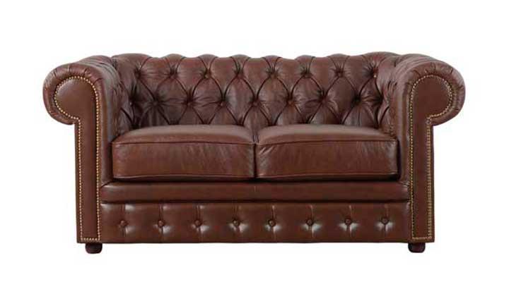 Кожаный двухместный диван Честер Чикаго