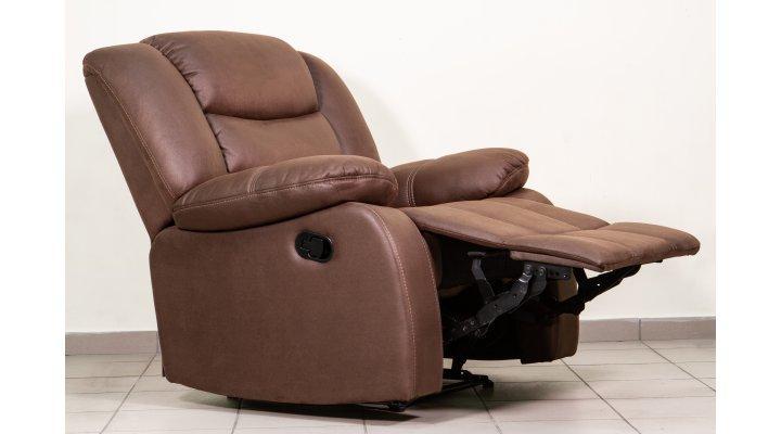 Кожаное кресло реклайнер Манхэттен - 3