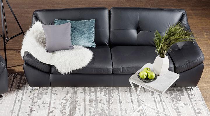Кожаный двухместный диван Небраска - 6