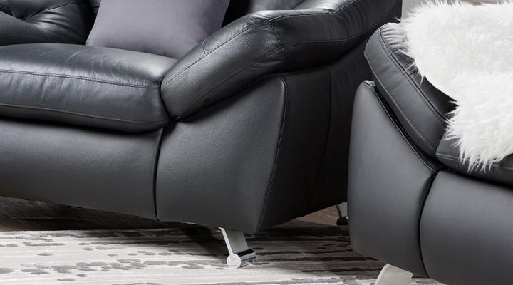 Кожаный двухместный диван Небраска - 7