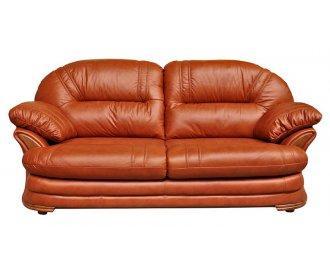 Кожаный двухместный диван Нью-Йорк