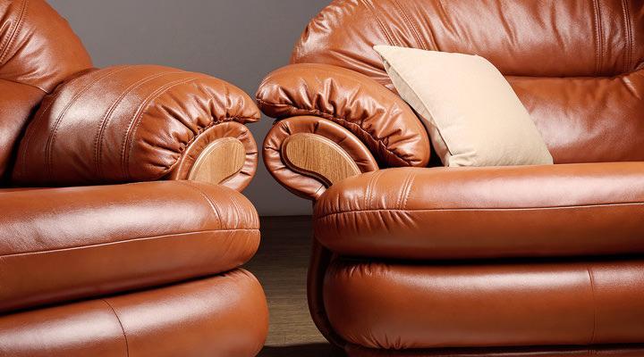 Кожаный четырехместный диван Орландо - 4