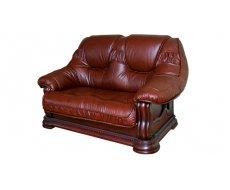 Кожаный двухместный диван Гризли 160