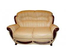 Кожаный двухместный диван Джове