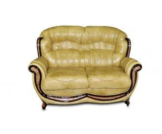Кожаный двухместный диван Джозеф