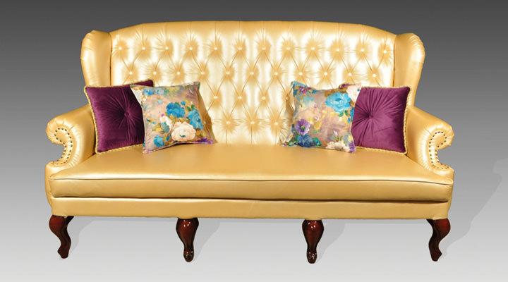 Кожаный двухместный диван Вальтер - 2